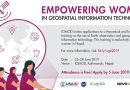 Call for Applications: Empowering Women in Geospatial Information Technology 2019