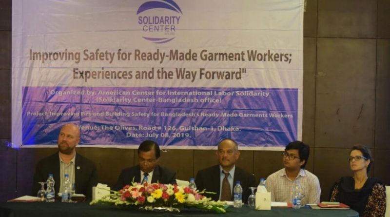 Call to ensure occupational health safety of RMG workers
