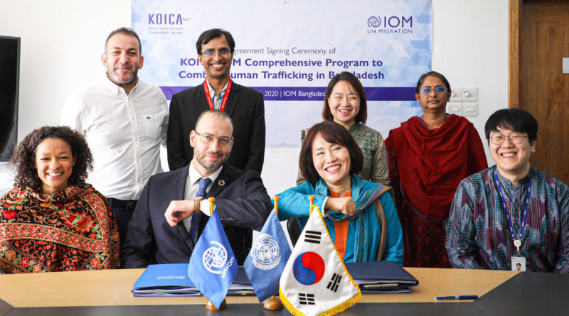 IOM and KOICA Sign Agreement to Combat Human Trafficking in Bangladesh